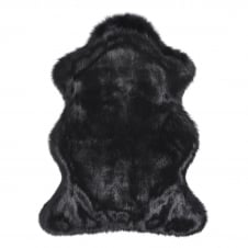 Luxury Faux Fur Skin/Throw - Ebony