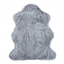 Luxury Faux Fur Skin/Throw - Silver