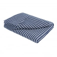 Revival Recycled Cotton Throw - Blue Stripe