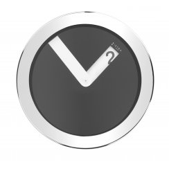 Stainless Steel Case Wall Clock - Black
