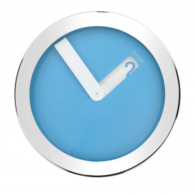 Istra London Stainless Steel Case Wall Clock - Blue