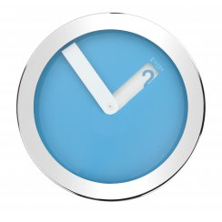 Stainless Steel Case Wall Clock - Blue