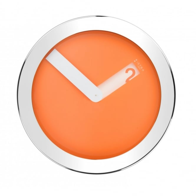 Istra London Stainless Steel Case Wall Clock - Orange
