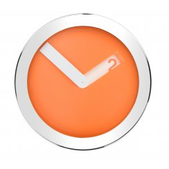 Stainless Steel Case Wall Clock - Orange