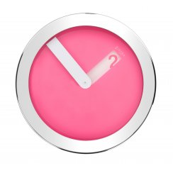 Stainless Steel Case Wall Clock - Pink
