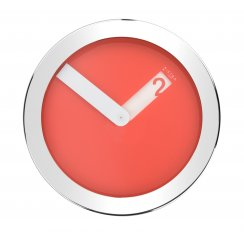 Stainless Steel Case Wall Clock - Red