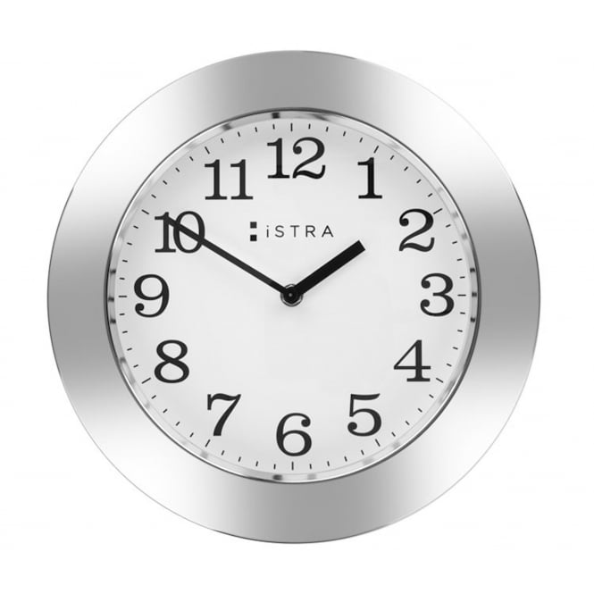Istra London Wall Clock White/Stainless Steel 30cm