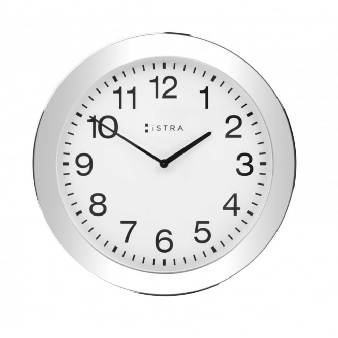 Istra London Wall Clock White/Stainless Steel - 30cm - White