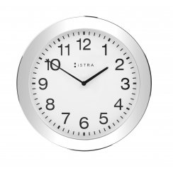 Wall Clock White/Stainless Steel - 30cm - White