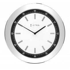 Wall Clock White/Stainless Steel - 41cm