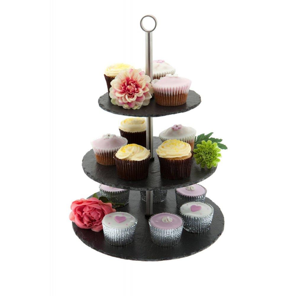just slate three tiered cake stand. Black Bedroom Furniture Sets. Home Design Ideas