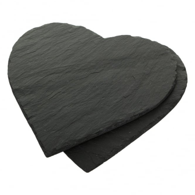Just Slate Heart Shaped Slate Placemats - Set of 2