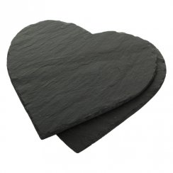 Heart Shaped Slate Placemats - Set of 2