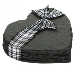 Heart Slate Coasters - Set of 4