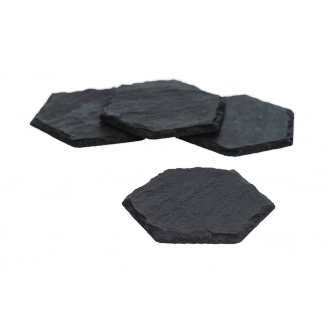 Just Slate Hexagonal Slate Coasters - Set of 4