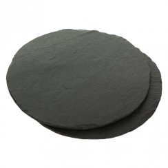 Round Slate Placemats - Set of 2
