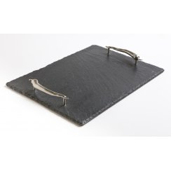 Slate Serving Tray with Chilli Handles - Large