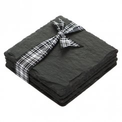 Square Slate Coasters - Set of 4