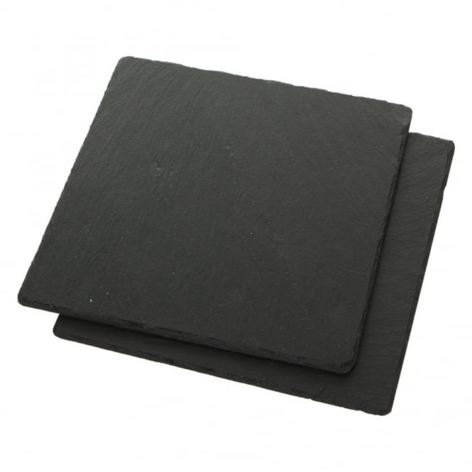 Just Slate Square Slate Placemats - Set of 2