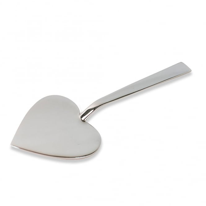 Just Slate Stainless Steel Heart Shaped Cake Server
