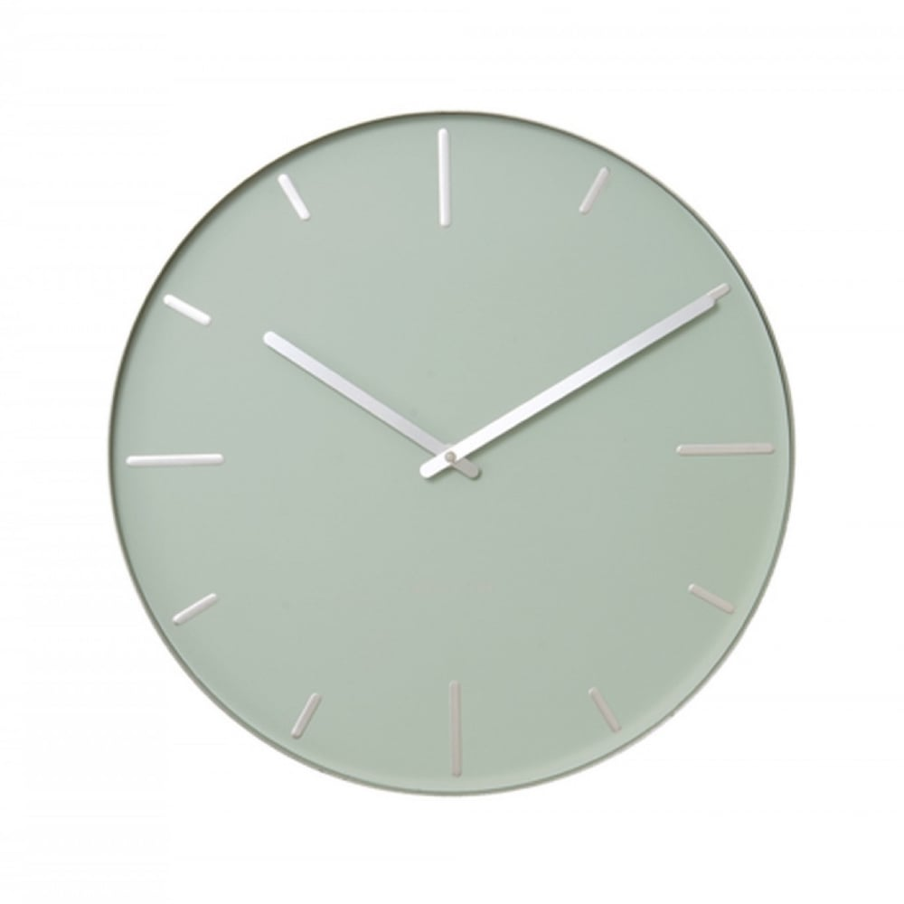 Karlsson belt wall clock green black by design for Green wall clocks uk