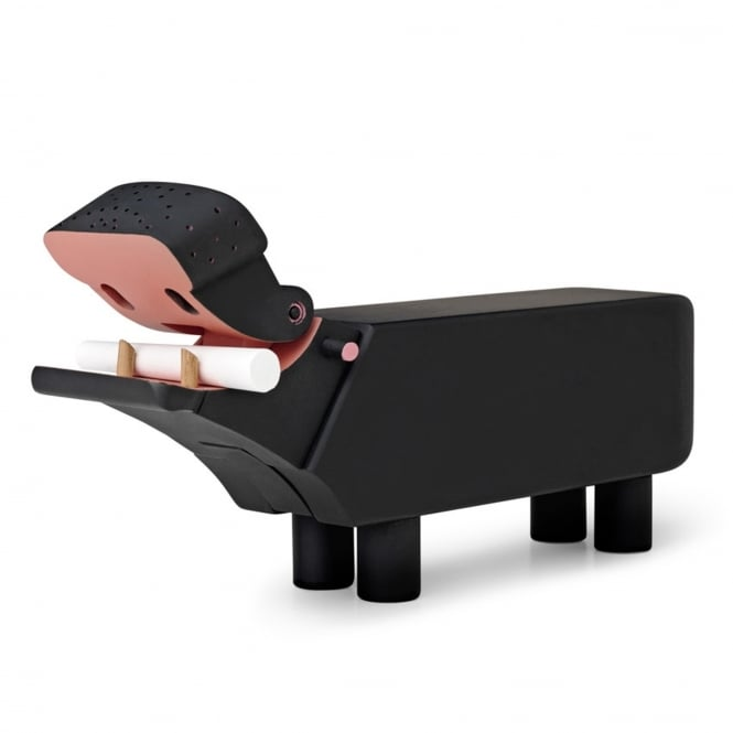 Kay Bojesen Painted Wooden Hippo - Black