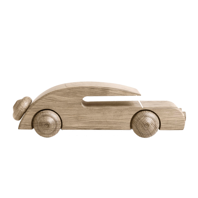 Kay Bojesen Vintage Style Wooden Sedan Automobil Car - Untreated Oak 27cm