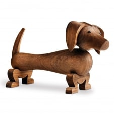 Wooden Dachshund Dog Figurine