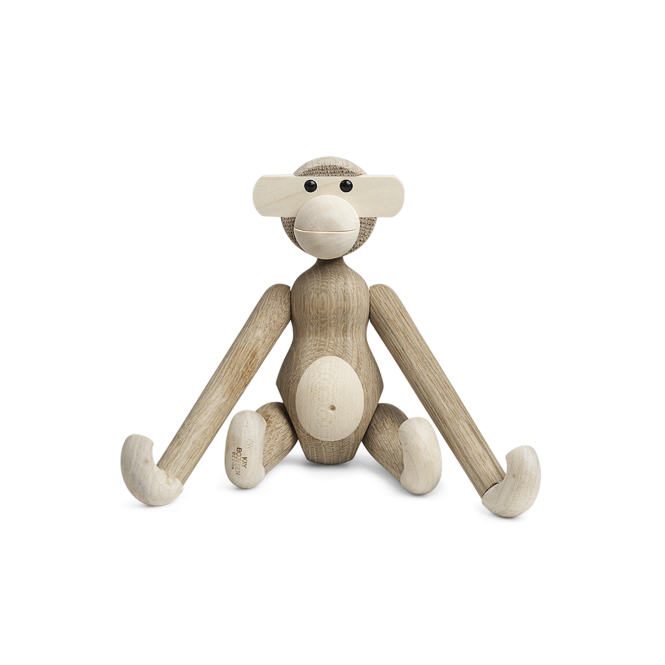 Kay Bojesen Wooden Monkey Oak/Maple- Small