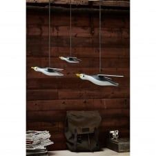 Wooden Seagull Mobile - Set of 3