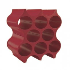 Set-Up Bottle Rack/Wine Rack - Red