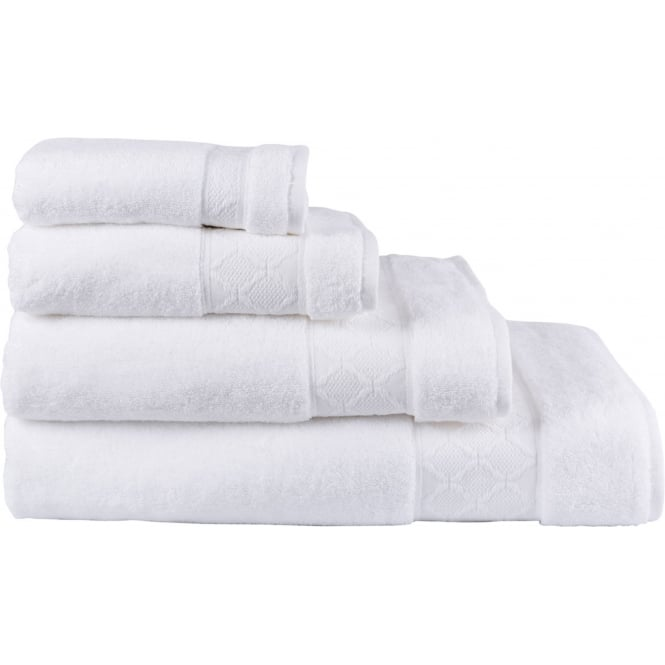 Le Jacquard Français Caresse Cotton Towels - White