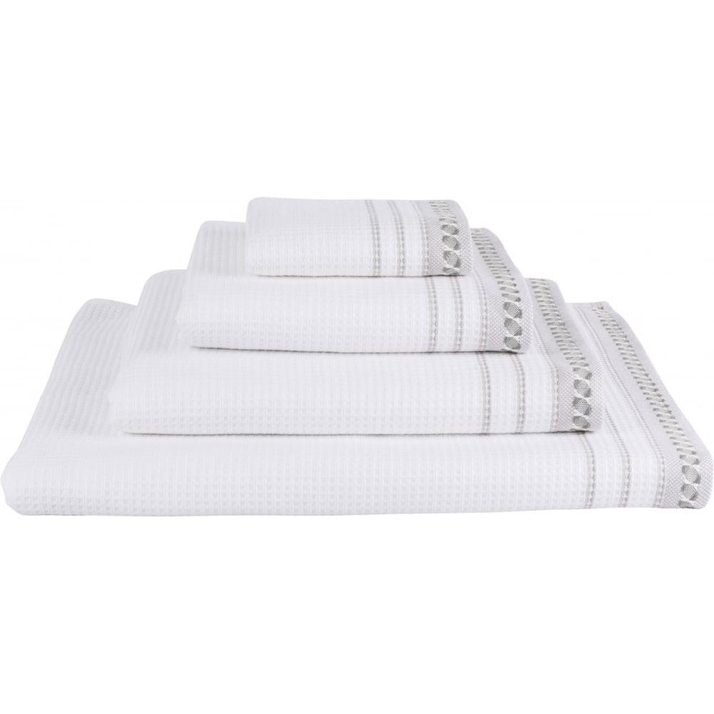 Le Jacquard Francais Envol Towels Whitegrey Black By Design