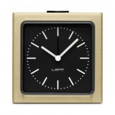 Block Alarm Clock - Brass/Black
