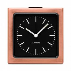 Block Alarm Clock with Numbers - Bronze/Black