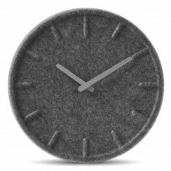 Felt Wall Clock 35cm by Sebastian Herkner - Grey Hands
