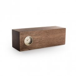 Piet Hein Eek Tube Wood Clock - Brown Oak/Brass