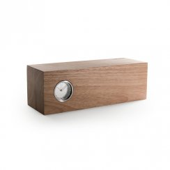 Piet Hein Eek Tube Wood Clock - Natural Hevea/Stainless Steel
