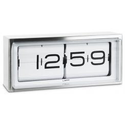 Retro Design Brick 24 Hour Clock by Erwin Termaat - Stainless Steel/White