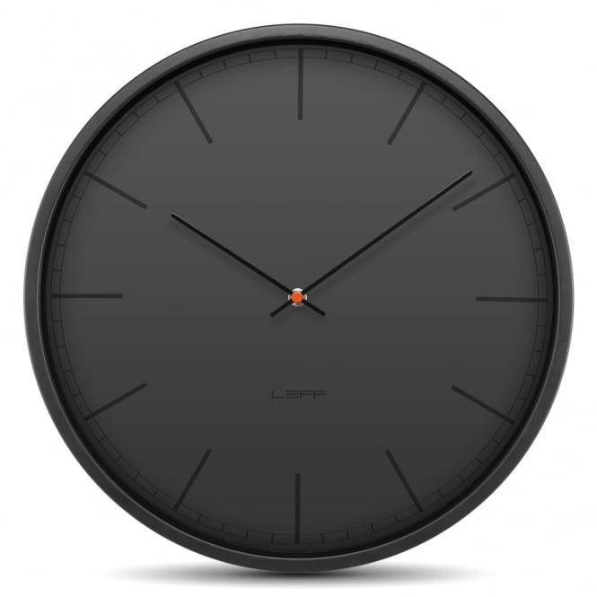 LEFF Amsterdam Tone Stainless Steel Wall Clock - Black