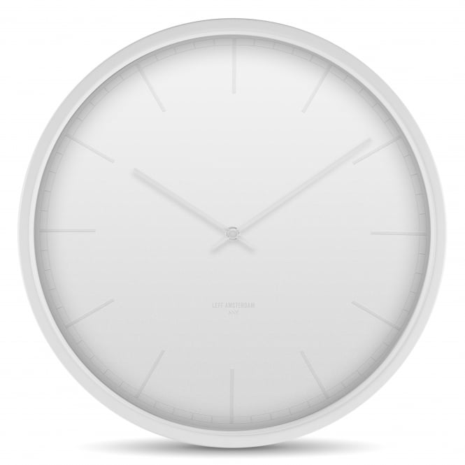 LEFF Amsterdam Tone Stainless Steel Wall Clock - White