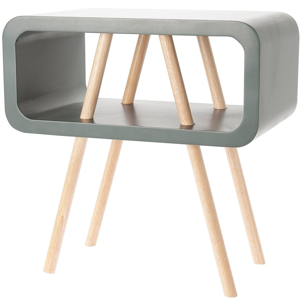 Open Minded Side Table   Dark Grey   Large. Present Time Leitmotiv Wooden Open Minded Side Table   Black by Design