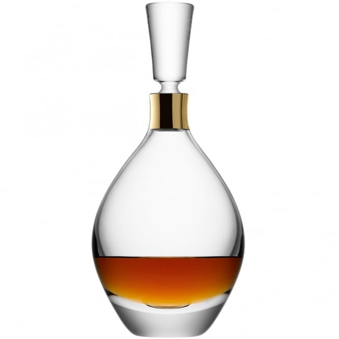 LSA International 1L Julia Decanter - Clear/Gold Neck