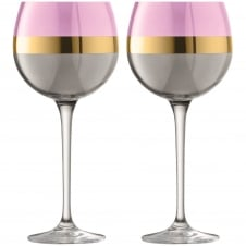 Bangle Balloon Glasses - Set of 2 - Rose
