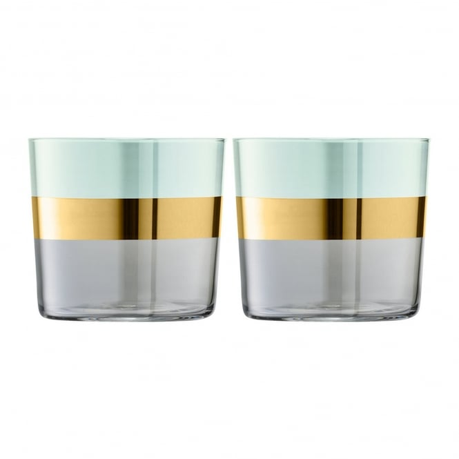 LSA International Bangle Glass Tumblers - Set of 2 - Melon