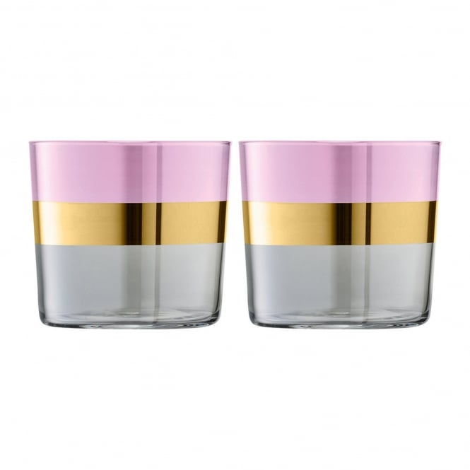 LSA International Bangle Glass Tumblers - Set of 2 - Rose
