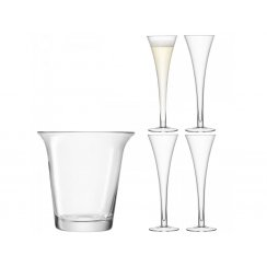 Bar Champagne Set - Champagne Flutes & Champagne Bucket