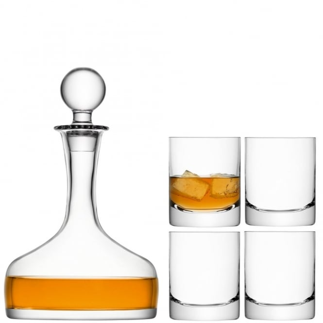 LSA International Bar Whisky Set - Decanter & Tumblers