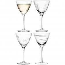 Charleston Wine Glasses - Set of 4