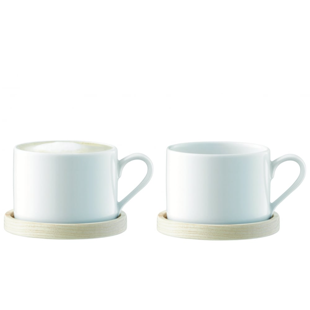 LSA Circle Cup and Ash Saucer | Set of 2 | Black by Design
